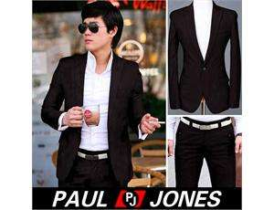 Korea Mens Fashion Stylish Slim Fit One Button Suit CL1187
