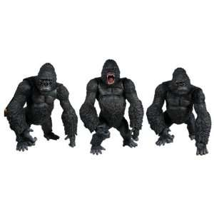 King Kong Deluxe 15 Movie Figure Set Of 3 Toys & Games