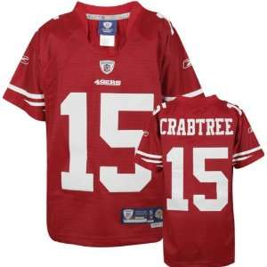 Michael Crabtree Red Reebok NFL Premier San Francisco 49ers Youth