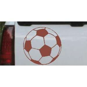 Soccer Ball Sports Car Window Wall Laptop Decal Sticker    Brown 14in