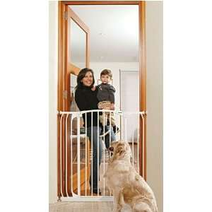 Tall Hallway Security Metal Gate 39.4H WHITE B1123