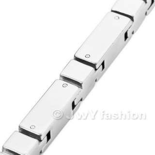 MENS Silver Stainless Steel Necklace Links Chain vj868