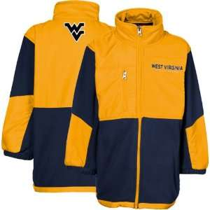 Virginia Mountaineers Old Gold Navy Blue Polar Fleece Full Zip Jacket