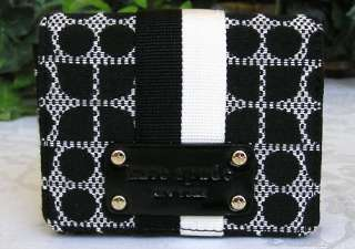 KATE SPADE CLASSIC NOEL FULL FLAP RUTH WALLET BLACK NWT