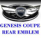 2010 2011 2012 Hyundai Genesis Coupe Chrome Wing Emblem Trunk