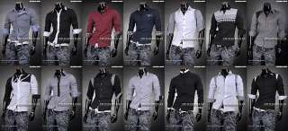 SWM Mens Designer Slim Long Casual Shirts Western Tops S M L XL Best