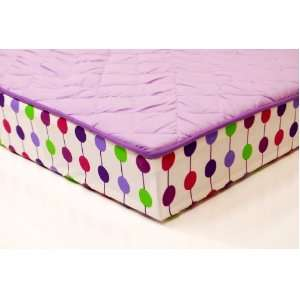 Botanical Purple Changing Pad Cover Baby
