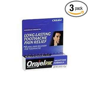 Orajel P.M. Maximum Strength Nighttime Formula Oral Pain Reliever for