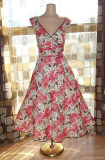 RETRO 50s Rockabilly Full Sweep Swing Dress SPRING Pin Up VLV 16 Plus