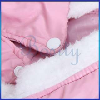 Pink Pet Doggie Dog Autumn Winter Coat Jacket Nylon taffeta S