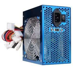PoWork 600W 20+4 pin ATX Power Supply with SATA & LEDs