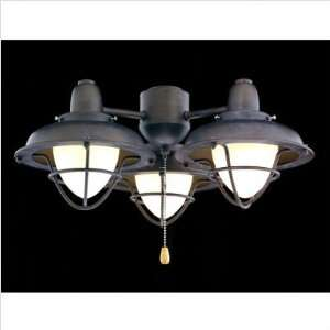 Boardwalk Cage Indoor/Outdoor Ceiling Fan Light Kit Finish
