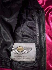 Harley Davidson Black Leather Motorcycle Riding Vest