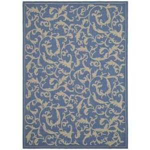 CY2653 3103 Courtyard Persian Blue / Natural Indoor / Outdoor Rug