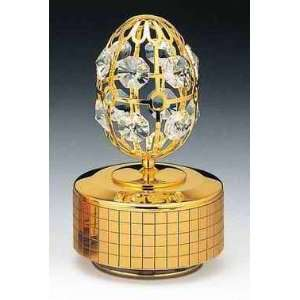 Egg 24k Gold Plated Swarovski Crystal Music Box