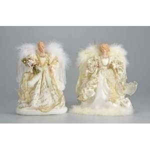 Merry Christmas Angel Tree Toppers Decorations 12