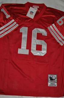 AUTHENTIC SAN FRANCISCO 49ERS JOE MONTANA #16 1989 RED THROWBACK