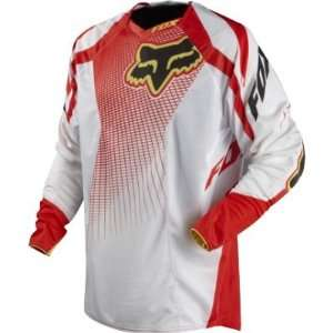Fox Racing Platinum A1 Race Jersey White/Red S Automotive