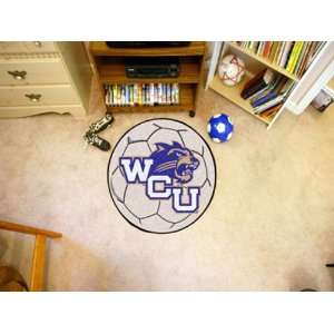 Western Carolina University Round Soccer Ball Rug Round 2