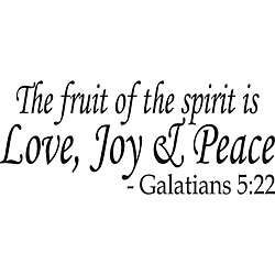 The Fruit of the Spirit Bible Verse Vinyl Wall Art
