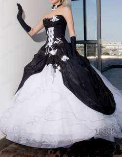 Beutiful Black &White Tulle Bridal Gown/Wedding Dress