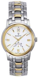 Accutron by Bulova Gemini Automatic Two Tone Steel Mens Watch Date