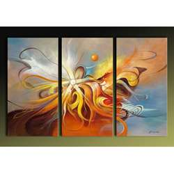 Flying Hand painted Abstract Art Set