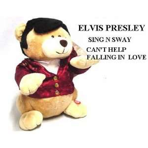 Elvis Singing Red Jacket Teddy Bear Toys & Games