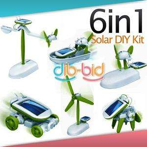 in 1 Solar DIY Educational Kit Toy Boat Fan Car Robot