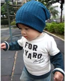 Korean style Cute boy girl Trendy Baby Toddler child hat Knit Beanie