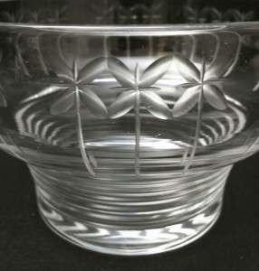 EXQUISITE 1930s ART DECO STUART CRYSTAL BOWL HAND CUT