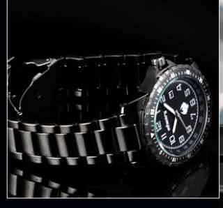 INFANTRY Black Quartz Mens Stainless Steel Wrist Sports Style Watch