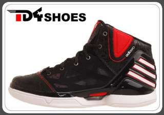 Adidas adiZero Rose 2.5 J Black Red Bulls 2012 Youth Basketball Shoes