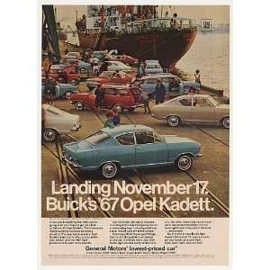 1967 Buick Opel Kadett Sedan Coupe Wagon Ship Dock Print