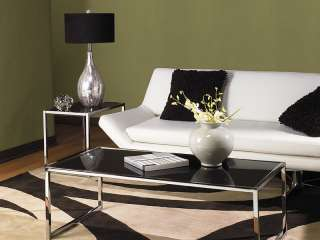 Avenue Six Yield Coffee Table with Black Glass Surface