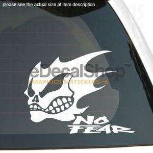 GHOST RIDER SKULL NO FEAR Vinyl Sticker Car Boat Decal