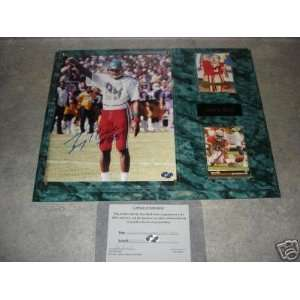 Jerry Rice Autographed Mississippi Valley State Wall