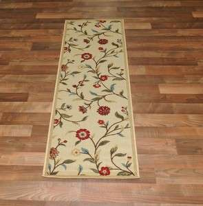 Modern Design Garden Ivory Area Rug Carpet 2X7 Runner AreaSize 2x8