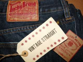 LUCKY BRAND JEANS VINTAGE STRAIGHT LEG JEAN DARK/MEDIUM WASH DIFF SIZE