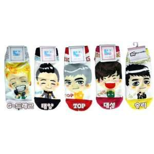 Big Bang Tonight Kpop Socks 5 Pairs Featuring Taeyang, G Dragon, Top