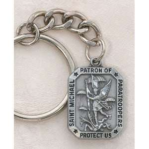 Keychain (Key Ring) St. Michael the Archangel, Patron of Paratroopers