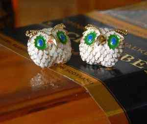 4514 NEW Fashion Jewelry Womens Owl Stud Earring