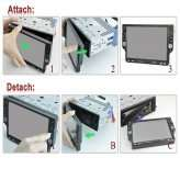 Inch Detachable Car DVD Player 1 DIN & GPS & mpeg 2 TV