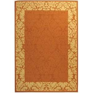 Safavieh Terracotta and Natural Indoor/ Outdoor Area Rug