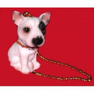 Bull Terrier Dog Puppy Ceiling Fan Pull Light Chain