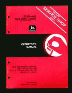 John Deere 125 Diesel Skid Steer Loader Operator Manual