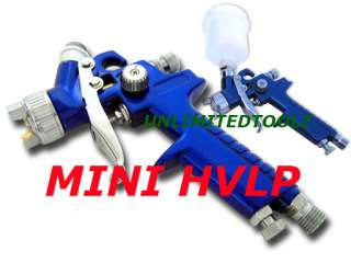 MINI GRAVITY FEED HVLP SPRAY GUN 1.0mm PAINT SPRAYER