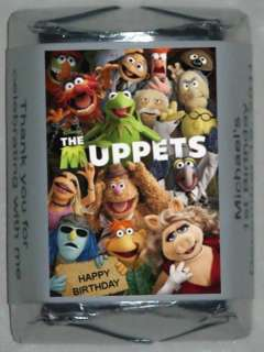 30 THE MUPPETS BIRTHDAY PARTY PERSONALIZED NUGGET CANDY WRAPPER LABELS