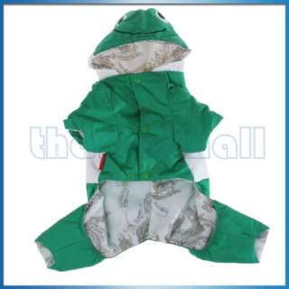 Winter Hooded Dog Pet Puppy Coat Jacket Clothes Frog
