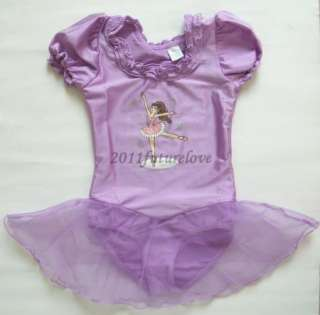 New Fairy Girls Party Leotard Ballet Tutu Skirt Dress